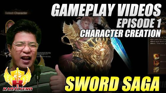 Sword Saga Gameplay Video, Episode 1, Character Creation, Uploaded
