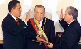 Chávez siendo juramentado 1999