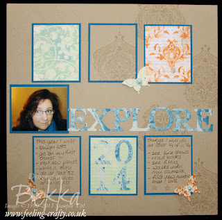 Looking forward to 2014 Scrapbook Page by UK Stampin' Up! Demonstrator Bekka - check her blog every Saturday for a new Scrapbook Page