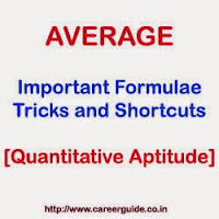 Average- Important Formulae, Tricks and Shortcuts