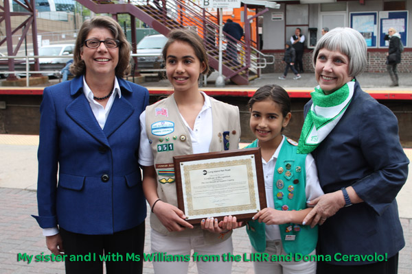 Girl Scout of Nassau County Media Girls Meet Helena Williams, President of the LIRR