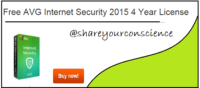 Free AVG Internet Security 2015 4 Year License