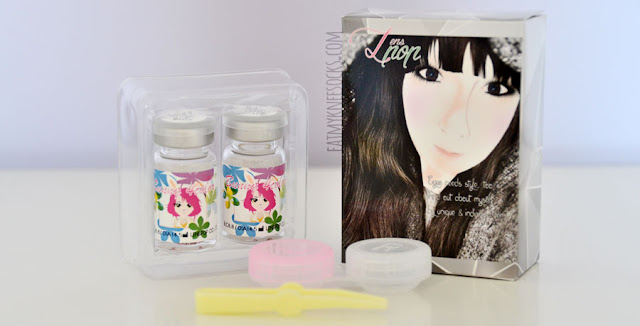 Klenspop's Bunny 4-Color C25 Pink circle lenses are dolly, natural contacts with simple details.