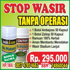 Obat Wasir TANPA OPERASI :