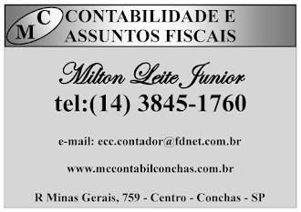 MC CONTABILIDADE E   ASSUNTOS FISCAIS   R Minas Gerais 759   Centro - Conchas - SP 18570-000 Brasi