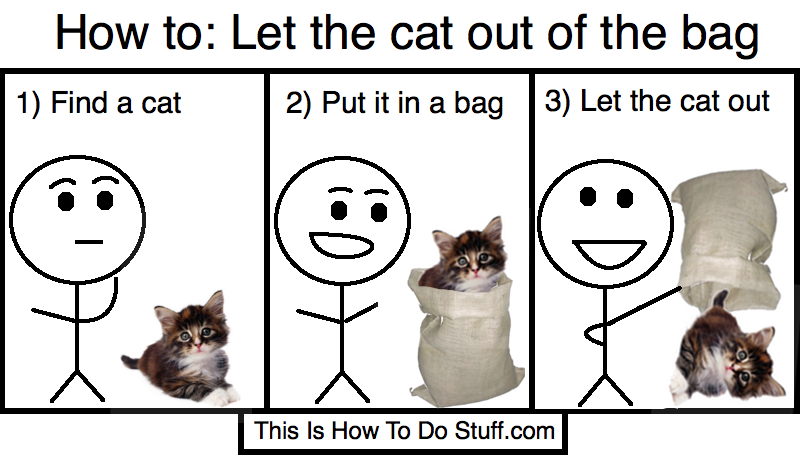 cat is out of the bag Why doesn't william want to let the poor cat out of the bag find out in this week's the english we speak the english we speak: to let the cat out of the.