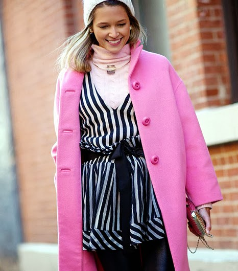 Pink coat fashion week