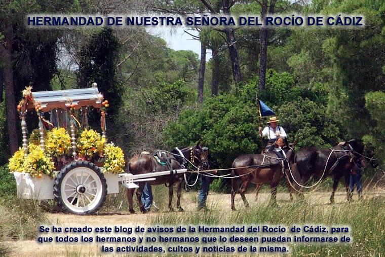 HERMANDAD DE NUESTRA SEÑORA DEL ROCIO DE CADIZ