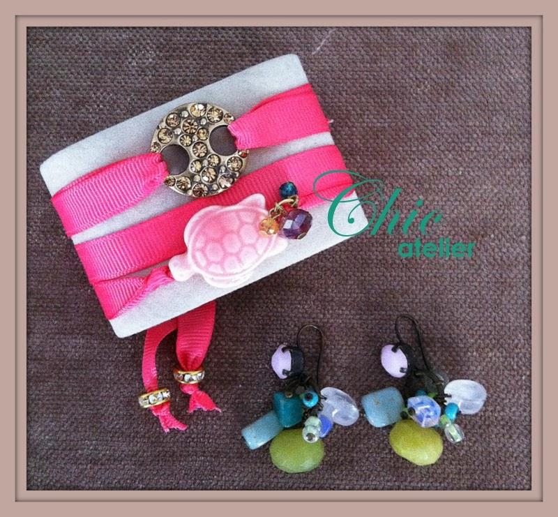 Pulseras y pendientes de moda hechos a mano
