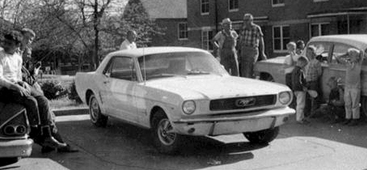The state has always maintained that after firing the shot ray exited the rooming house dropped the bundle climbed into his white ford mustang