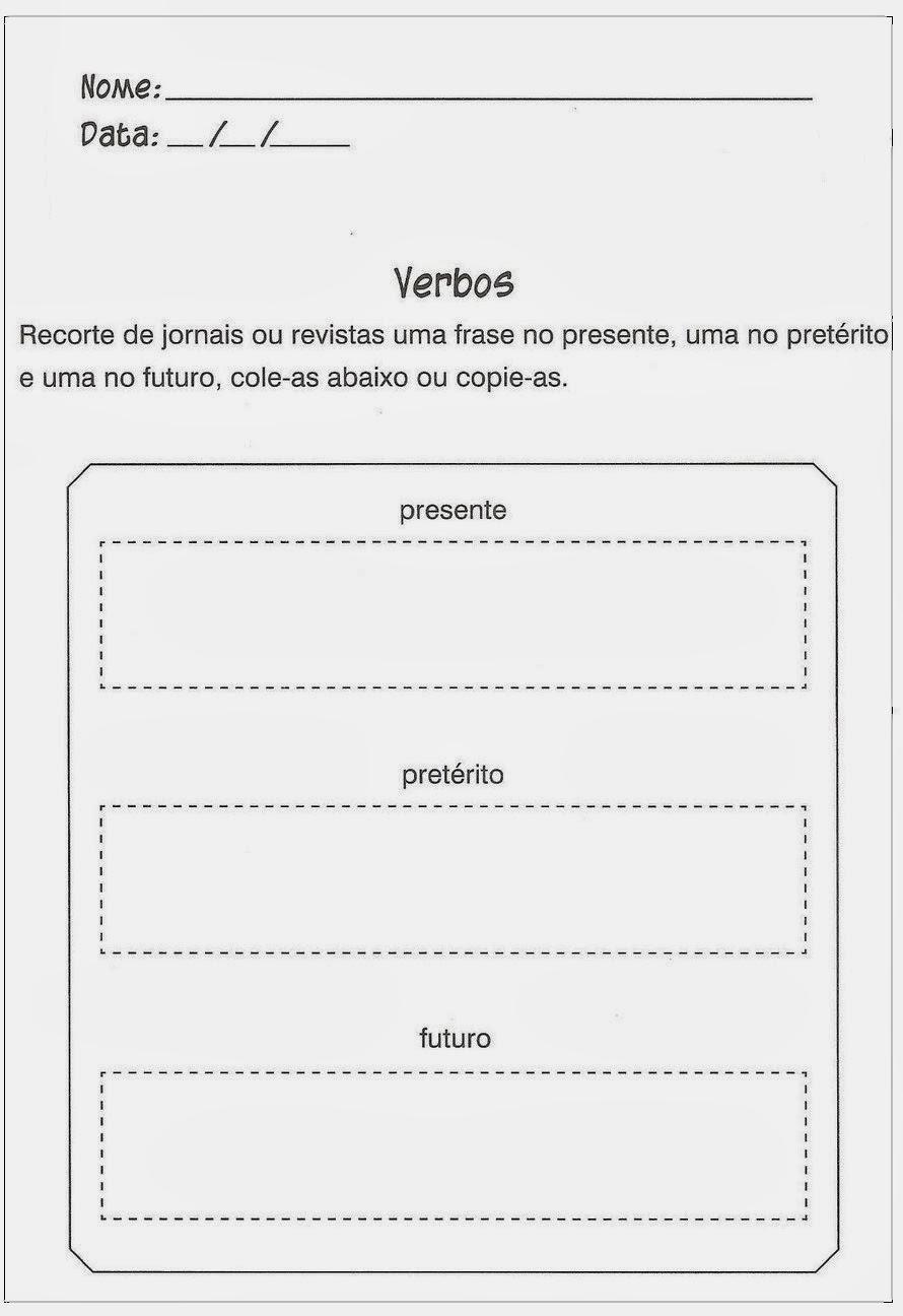 Atividade de Português - Verbos