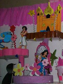 Centros de Mesa de Aladino para Fiestas Infantiles