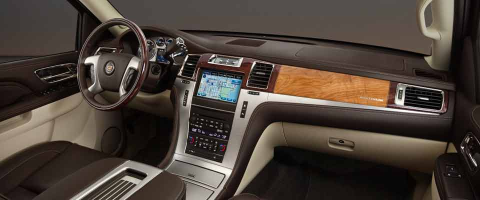 the cadillac escalade interior is going upscale. Black Bedroom Furniture Sets. Home Design Ideas