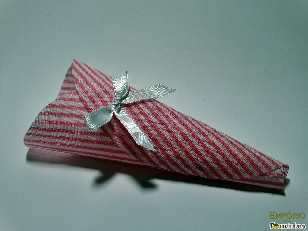Forminhas cone de tecido algodão