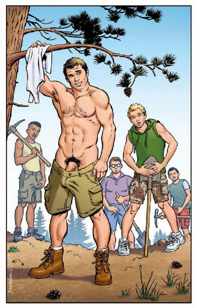 dibujo porno gay:
