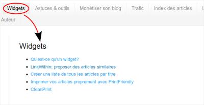 Pages pour votre blog
