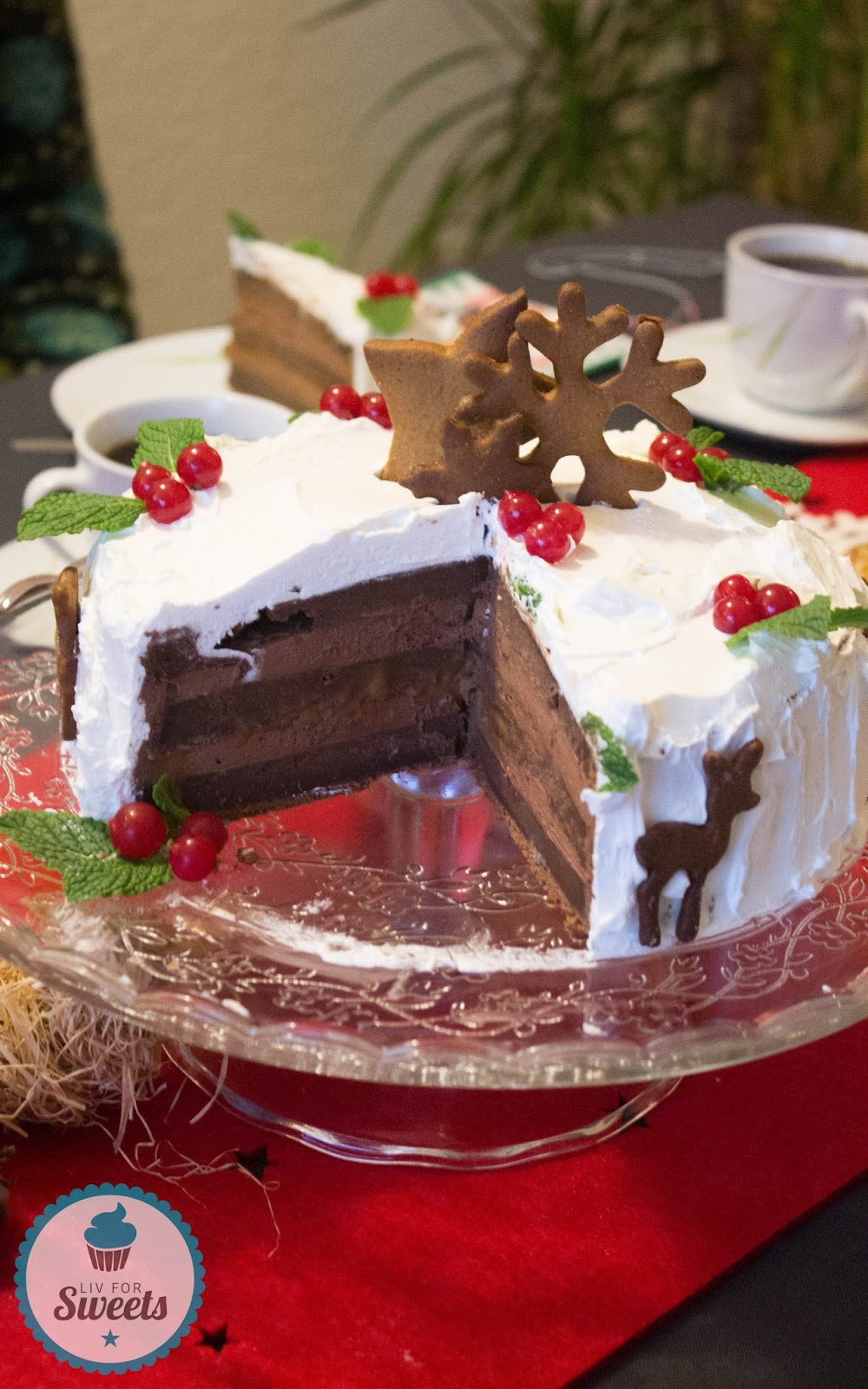 liv for sweets weihnachtsb ckerei schoko lebkuchen torte. Black Bedroom Furniture Sets. Home Design Ideas