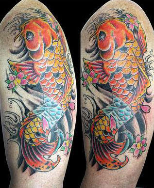 koi fish tattoos part 1 3d tattoos images. Black Bedroom Furniture Sets. Home Design Ideas