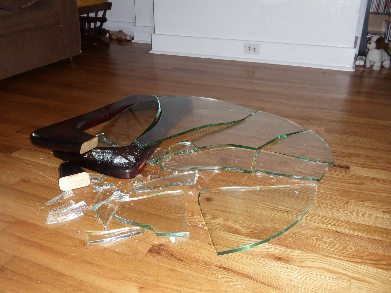 Image Gallery Of Broken Glass Table