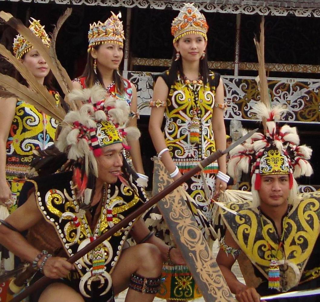 Image of Dayak Tribe the crocodiles and the dayaks tribes