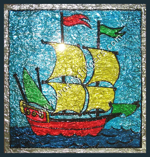Ship A-Sailing: Glass Painting