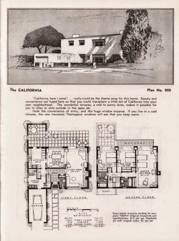 More art deco and moderne home plans gropius and oud inspired art deco resource - Deco eetkamer oud ...
