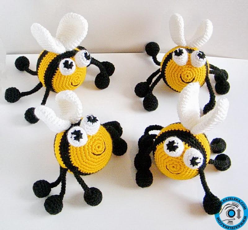 вязаные развивающие пчелы