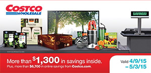 Current Costco Coupon Book April 2015