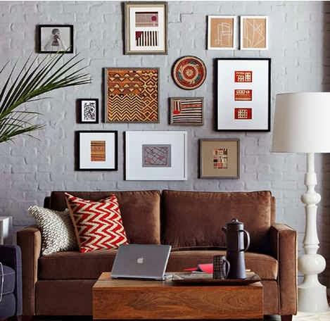 Colocar cuadros encima del sofa