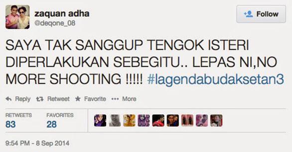 Zaquan Adha megamuk didalam Twitter - HairanBlog