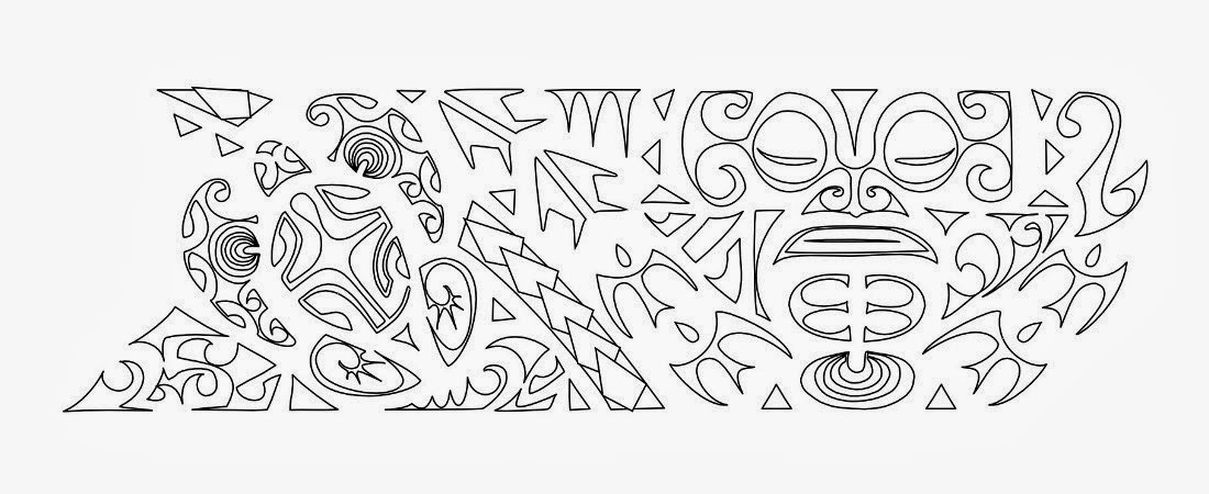 "Armband ""continuity"" Samoan tattoo stencil"