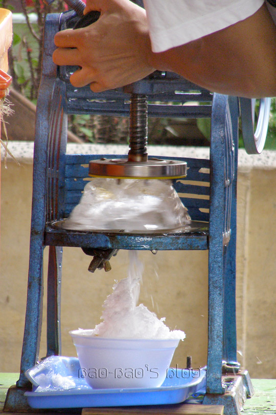 hand crank shaved ice machine
