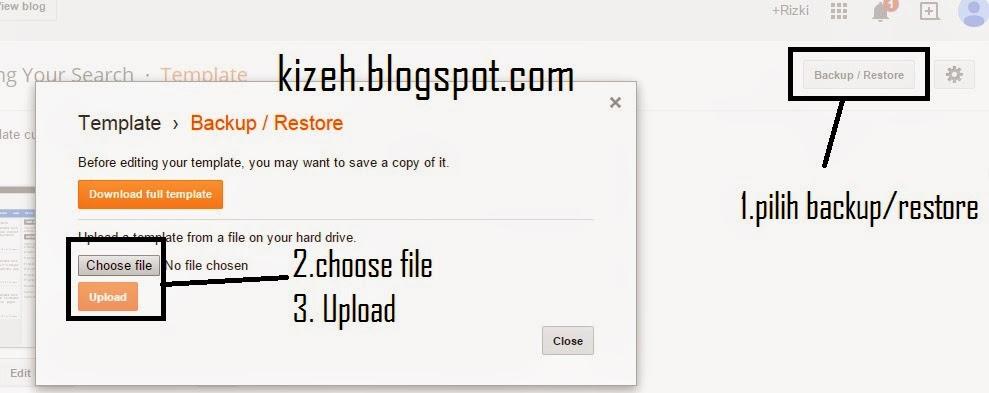Cara mengubah template blog