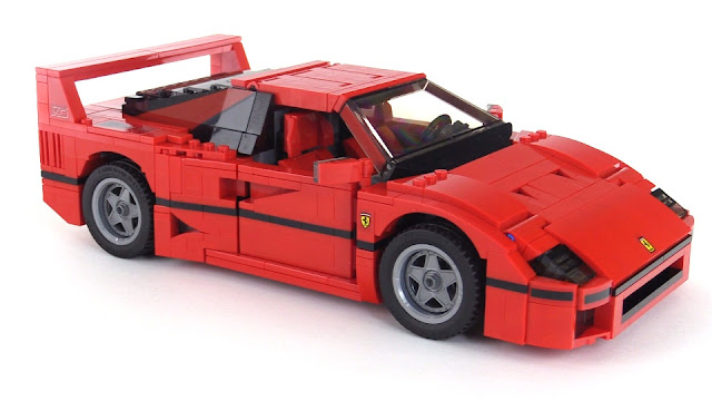 slowly rotating lego ferrari f40. Black Bedroom Furniture Sets. Home Design Ideas