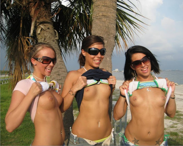 college girl friends,topless,beach