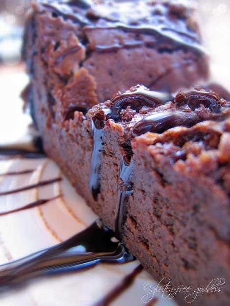Gluten-Free Goddess favorite: my flourless chocolate cake.