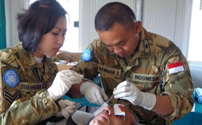 Dokter Satgas Konga XXIII-G/UNIFIL Operasi Tukang Batu di Lebanon