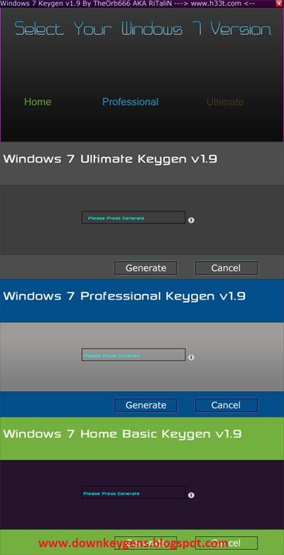 how to run keygen on windows 7