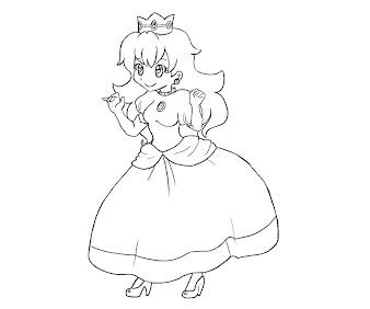#22 Princess Peach Coloring Page