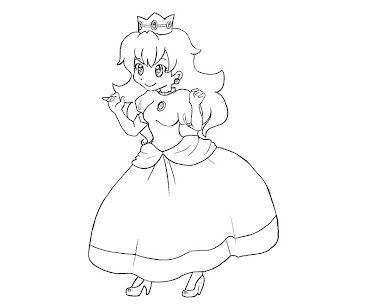 #22 Princess Peach Coloring Page