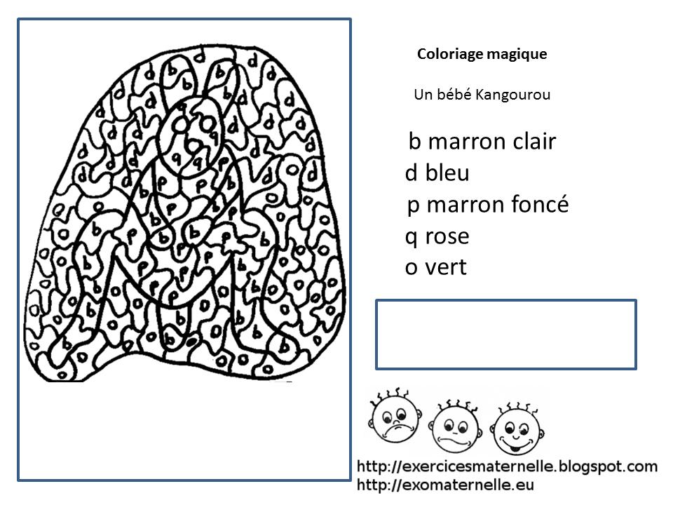Coloriage Magique Kangourou.Maternelle Coloriage Magique Le Petit Kangourou
