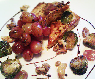 ... of cooking that involves roasting grapes in savory food and i love