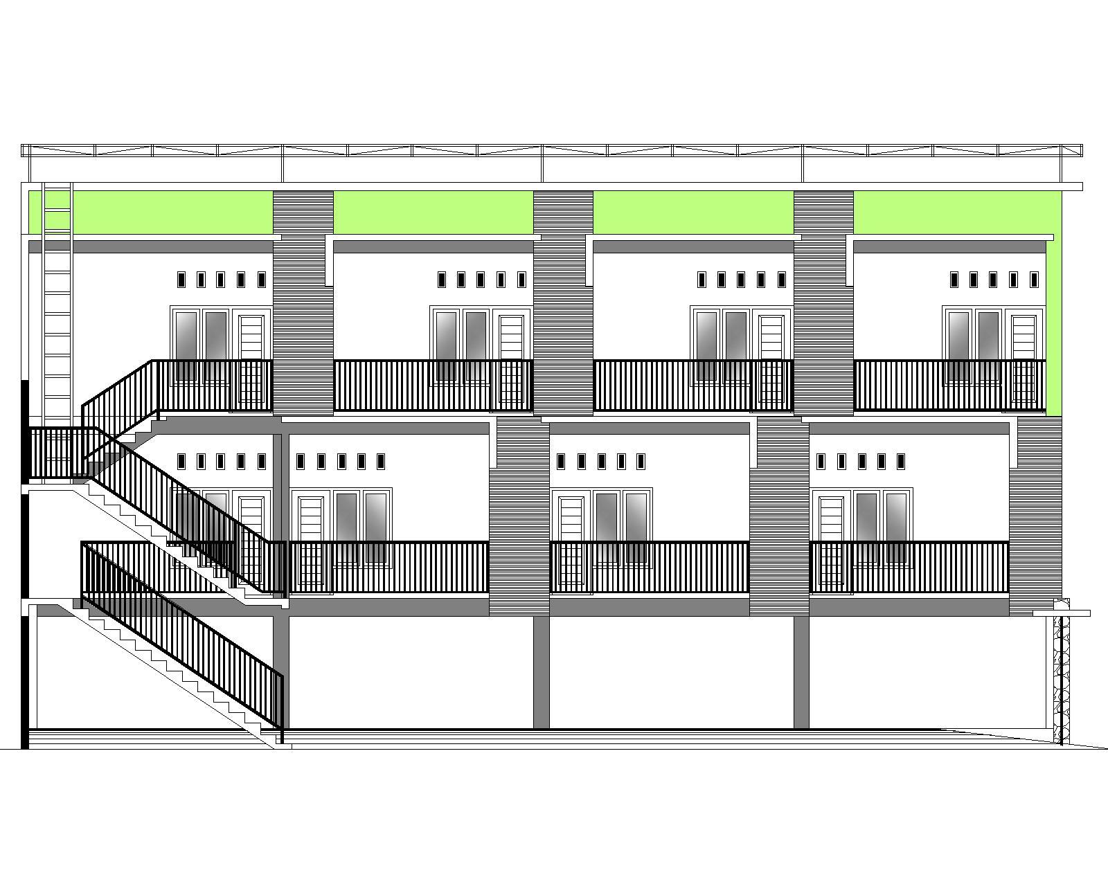 Dapatkan Desain Jadi Rumah Kos 2 Lantai Ukuran Lahan