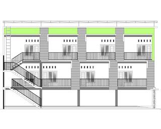 Dapatkan Desain  jadi Rumah Kos 2 Lantai, Ukuran Lahan 10x20 m!!! Gaya  Minimalis!! Harga terjangkau!