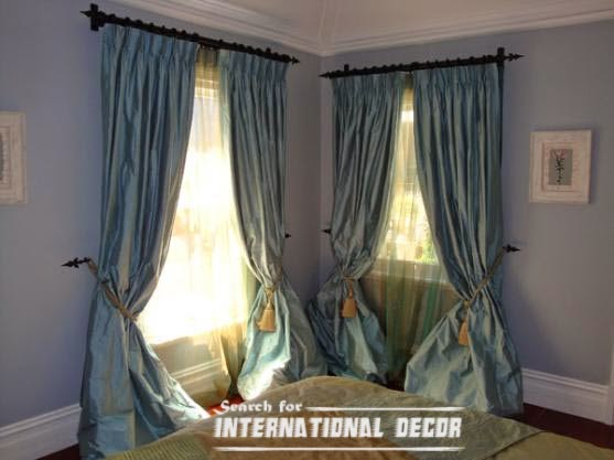 top ideas for bedroom curtains and window treatments international decoration. Black Bedroom Furniture Sets. Home Design Ideas