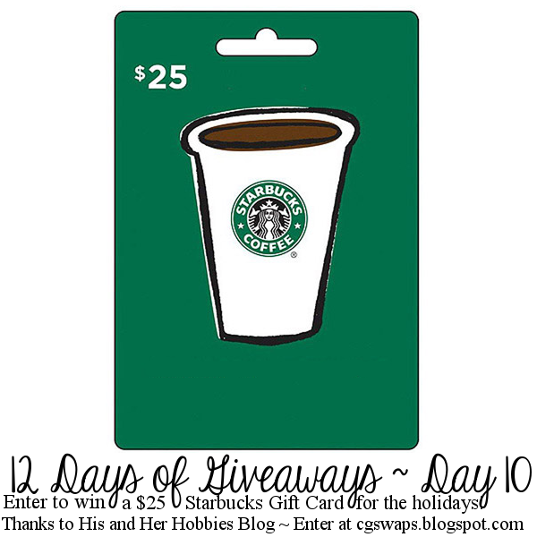 12 Days of Giveaways ~ Day 10: $25 Starbucks Gift Card