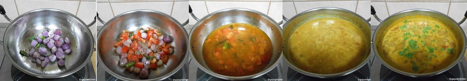 Sambar preparation