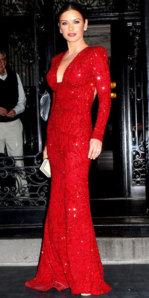 Two Descendants Of The Red Little Rock Gowns Catherine Zeta Jones In Elie Saab At 2011 Tonys