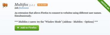 Multifox {untuk browser Mozilla Firefox)