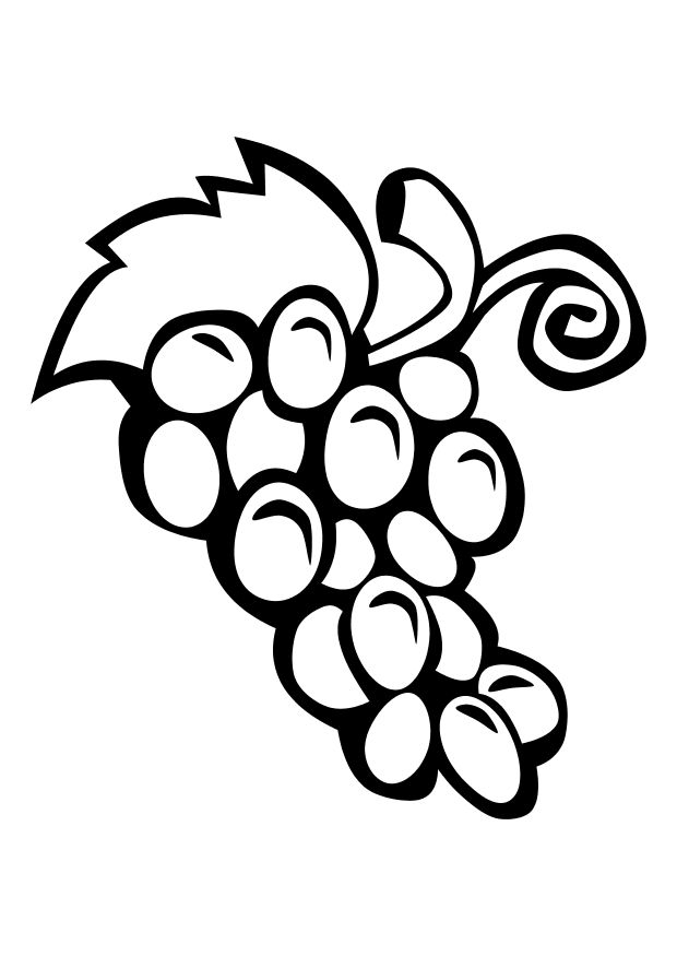 Free Grapes Coloring Pages